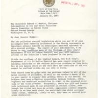 Robert F. Wagner to Edmund S. Muskie Regarding S. 306<br />