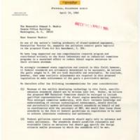 R.C. Brown to Edmund S. Muskie Regard S. 306<br />