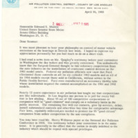S. Smith Griswold to Edmund s. Muskie Regarding S. 306<br />