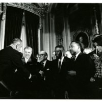 Voting Rights Act signing<br />